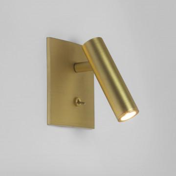 Встраиваемый настенный светодиодный светильник с регулировкой направления света Astro Enna 1058030 (7550), LED 4,47W 2700K 111.44lm CRI80, матовое золото, металл