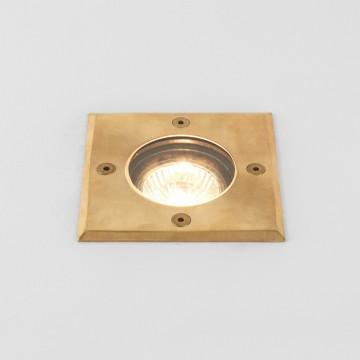 Встраиваемый в уличное покрытие светильник Astro Gramos Coastal 1312004 (7952), IP65, 1xGU10x6W, латунь, прозрачный, металл, стекло