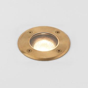 Встраиваемый в уличное покрытие светильник Astro Gramos Coastal 1312005 (7953), IP65, 1xGU10x6W, латунь, прозрачный, металл, стекло