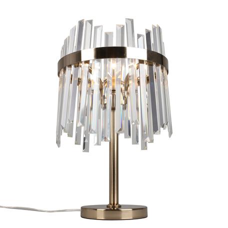Светильник Aployt Melisa APL.747.04.01, 1xE27x60W, бронза, прозрачный с бронзой, бронза с прозрачным, металл, хрусталь с металлом