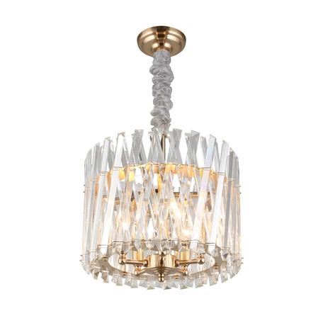Светильник Aployt Verene APL.808.13.05, 5xE14x40W, золото, прозрачный, металл, хрусталь