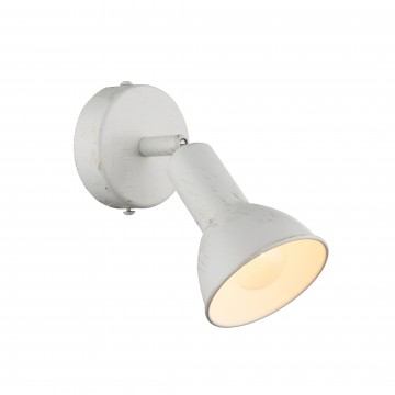 Настенный светильник с регулировкой направления света Globo Caldera 54648-1, 1xE14x40W, металл