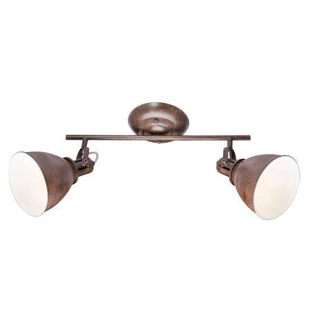 Потолочный светильник с регулировкой направления света Globo Giorgio 54647-2, 2xE14x40W, металл