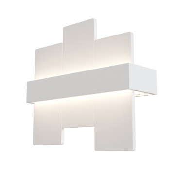 Настенный светодиодный светильник Maytoni Technical Mix C817WL-L12W, LED 12W 3000K 1000lm CRI82, белый, металл, пластик