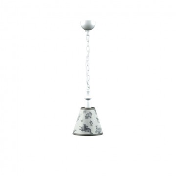 Подвесной светильник Maytoni Classic 5 E-00-WM-LMP-O-8, 1xE14x40W, белый, серый, металл, текстиль