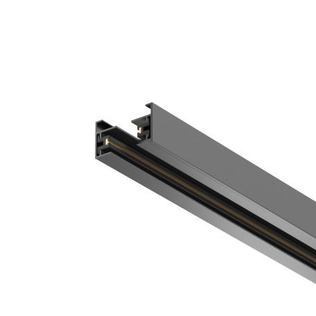 Шинопровод в сборе с питанием и заглушкой Maytoni Single Phase Track System Busbar Trunkings TRX001-111B, черный, металл