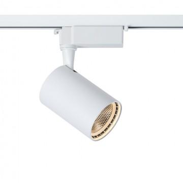 Светодиодный светильник для шинной системы Maytoni Track TR003-1-12W3K-W, LED 12W, 3000K (теплый), белый, металл