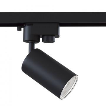 Светильник с регулировкой направления света для шинной системы Maytoni Single Phase Track System Lamps TR002-1-GU10-B, 1xGU10x50W, черный, металл