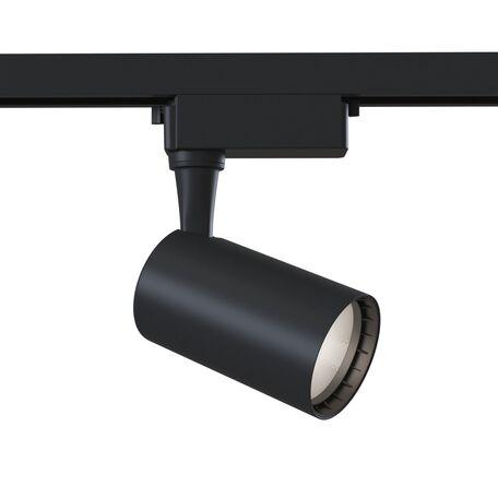 Светодиодный светильник с регулировкой направления света для шинной системы Maytoni Single Phase Track System Lamps TR003-1-6W3K-B, LED 6W 3000K 450lm CRI80, черный, металл