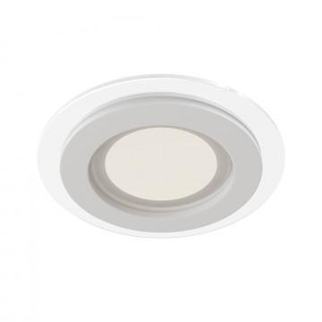 Встраиваемая светодиодная панель Maytoni Han DL304-L12W 3000K (теплый), белый, металл