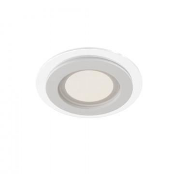 Встраиваемая светодиодная панель Maytoni Han DL304-L6W 3000K (теплый), белый, металл