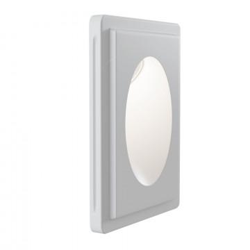 Встраиваемый настенный светильник Maytoni Gyps Modern DL012-1-01W, 1xGU10x30W, белый, под покраску, гипс