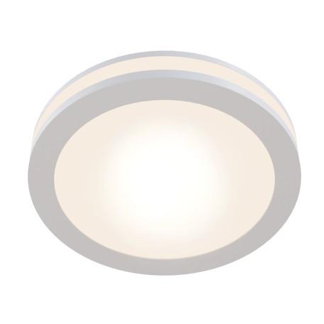 Встраиваемый светодиодный светильник Maytoni Phanton DL2001-L7W, LED 7W 3000K 400lm CRI80, белый, металл с пластиком, пластик с металлом, пластик