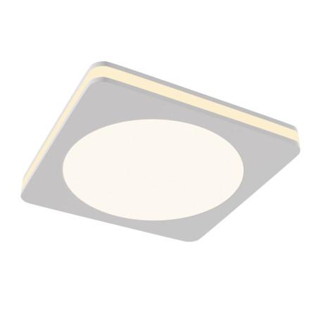 Встраиваемый светодиодный светильник Maytoni Phanton DL303-L12W, LED 12W 3000K 750lm CRI80, белый, металл с пластиком, пластик с металлом, пластик