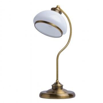 Настольная лампа MW-Light Аманда 481031301, бронза, белый, металл, стекло