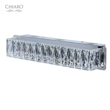 Настенный светодиодный светильник Chiaro Гослар 498022701, LED 80W 800lm, хром, прозрачный, металл, хрусталь