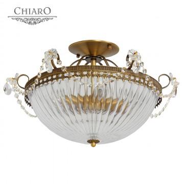Потолочная люстра MW-Light Селена 482010204, латунь, прозрачный, металл, стекло, хрусталь