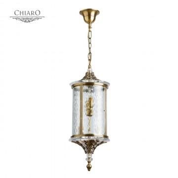 Подвесной светильник Chiaro Мидос 802011104, IP44, 4xE14x60W, бронза, прозрачный, металл, стекло, хрусталь
