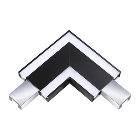 L-осветодиодное бразный соединитель с LED-подсветкой для модульной системы Novotech Over Iter 135110, LED 6W 4000K 570lm, черный, металл