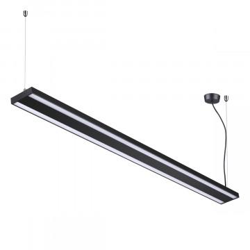 Подвесной светодиодный светильник Novotech Over Iter 358446, LED 60W 4000K 5750lm, черный, металл, металл с пластиком