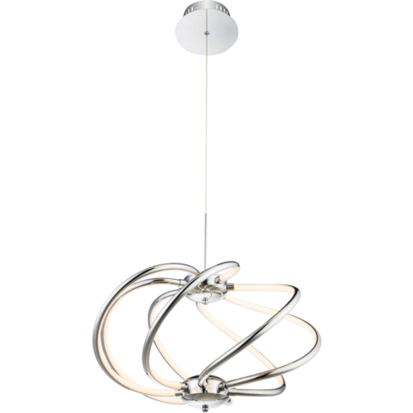 Подвесная светодиодная люстра Globo Wave 67823-40H, LED 40W 3000K, металл, пластик