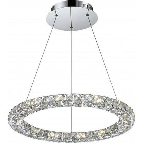Подвесной светодиодный светильник Globo Marilyn I 67037-24, LED 24W, 4000K (дневной), металл, хрусталь