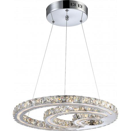 Подвесной светодиодный светильник Globo Miley 67052-30, металл, пластик, хрусталь
