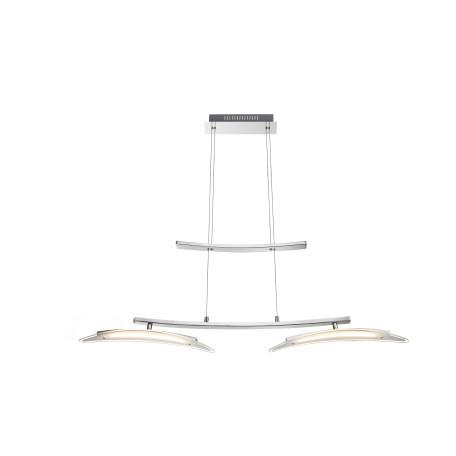 Подвесной светодиодный светильник с регулировкой направления света Globo Valeria 67102-2H, LED 18W, 3000K (теплый), металл, стекло