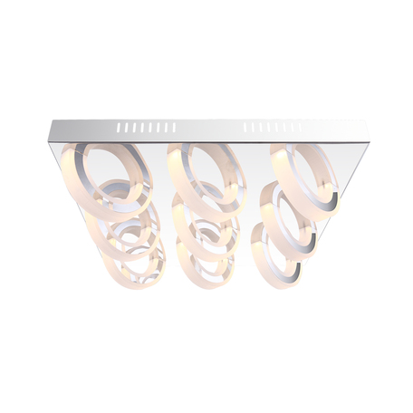 Потолочная светодиодная люстра Globo Mangue 67062-9D, LED 45W, 3000K (теплый), металл, пластик