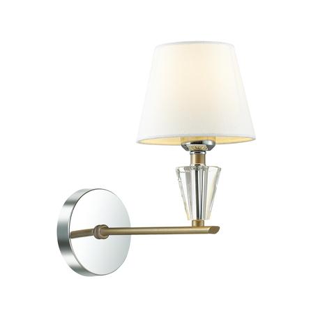 Бра Lumion Neoclassi Loraine 3733/1W, 1xE27x60W, хром, белый, металл со стеклом, текстиль