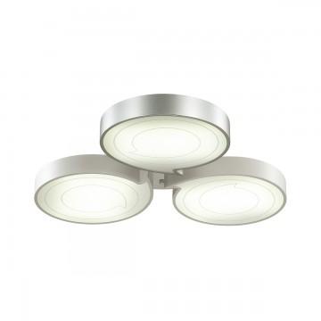 Потолочная светодиодная люстра с пультом ДУ Lumion Dilip 3696/60CL, LED 60W 3000-6000K, белый, серебро, металл, пластик