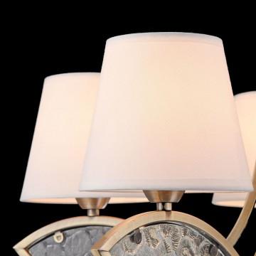 Подвесная люстра Freya Camila FR5597PL-05BZ, 5xE14x60W, бронза, прозрачный, белый, металл, стекло, текстиль - миниатюра 8