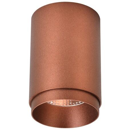 Потолочный светодиодный светильник Wertmark Stecken WE801.01.607, LED 7W 4000K 460lm, коричневый, металл