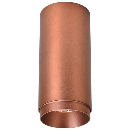 Потолочный светодиодный светильник Wertmark Stecken WE802.01.607, LED 12W 4000K 800lm, коричневый, металл