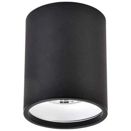Потолочный светодиодный светильник Wertmark Stecken WE804.01.027, LED 10W 4000K 670lm, черный, металл