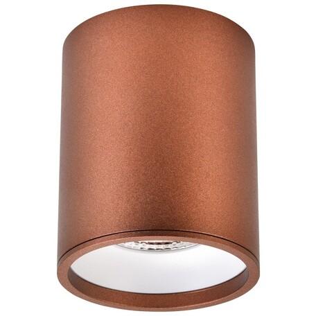 Потолочный светодиодный светильник Wertmark Stecken WE804.01.607, LED 10W 4000K 670lm, коричневый, металл