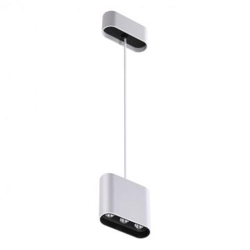 Подвесной светодиодный светильник Novotech Over Bella 357950, LED 7W 3000K 404lm, белый, черно-белый, металл