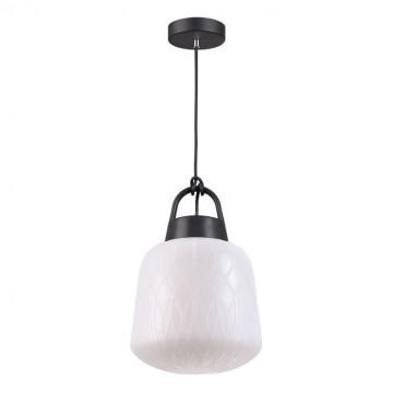 Подвесной светильник Novotech Conte 370601, IP44, 1xE27x60W, черный, белый, пластик