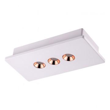 Потолочный светодиодный светильник Novotech Caro 357940, 3000K (теплый), белый, медь, гипс, металл