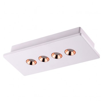 Потолочный светодиодный светильник Novotech Caro 357941 3000K (теплый), белый, медь, гипс, металл