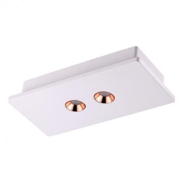 Потолочный светодиодный светильник Novotech Caro 357939, LED 8W 3000K 450lm, белый, медь, гипс