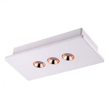 Потолочный светодиодный светильник Novotech Caro 357940, LED 12W, 3000K (теплый), белый, медь, гипс