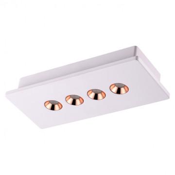 Потолочный светодиодный светильник Novotech Caro 357941, LED 15W 3000K 900lm, белый, медь, гипс