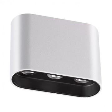 Потолочный светодиодный светильник Novotech Bella 357948, LED 7W 3000K 404lm, белый, черно-белый, металл