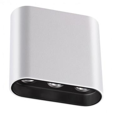 Потолочный светодиодный светильник Novotech Bella 357949, LED 7W 3000K 404lm, белый, черно-белый, металл