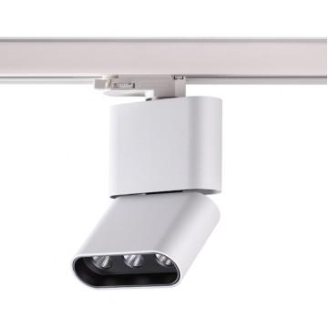 Светодиодный светильник для шинной системы Novotech Bella 357953 3000K (теплый), белый, черный, металл