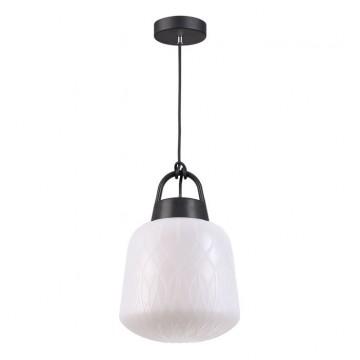 Подвесной светильник Novotech 370601, IP44, черный, белый, пластик