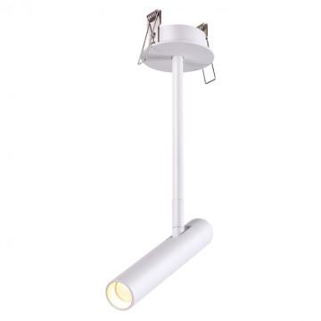 Встраиваемый светодиодный светильник с регулировкой направления света Novotech Spot Mons 357943, LED 5W 3000K 253lm, белый, металл