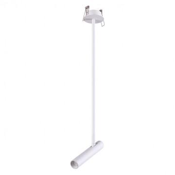 Встраиваемый светодиодный светильник с регулировкой направления света Novotech Spot Mons 357944, LED 5W 3000K 253lm, белый, металл