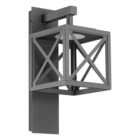 Настенный светодиодный фонарь Novotech Dantela 358447, IP54, LED 10W 4000K 500lm, серый, металл